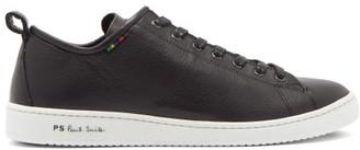 Paul Smith Miyata Logo-embossed Leather Trainers - Black