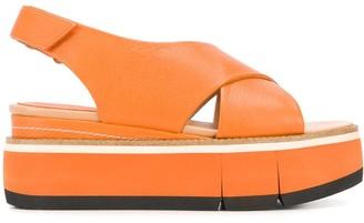 Paloma Barceló Cross-Strap Platform Sandals