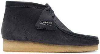 Clarks Navy Suede Wallabee Desert Boots
