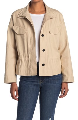 Frame Cinched Ruffle Hem Jacket