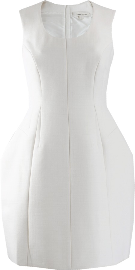 Marc Jacobs Sleeveless Scoop Neck Structured Dress