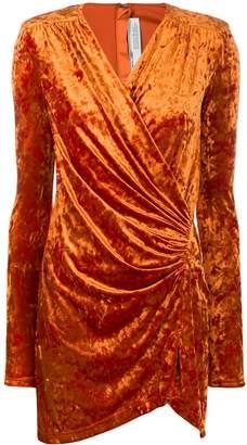 Off-White velvet wrap dress