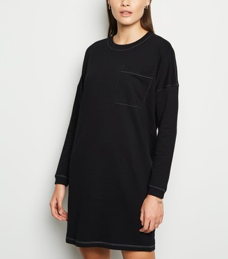 New Look Noisy May Contrast Stitch Sweatshirt Dress