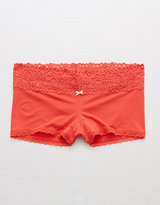 aerie Shine Boyshort + Boho Lace