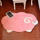 Lovely Pink Sheep Kid Playmats Carpet Large Plush Soft Baby Crawling Mat Rug