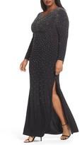 Xscape Evenings Plus Size Women's Beaded A-Line Gown