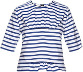 Marni Breton-striped ruffled top