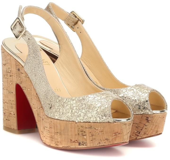 on sale 15d5f 96f60 Dona Anna glitter platform sandals