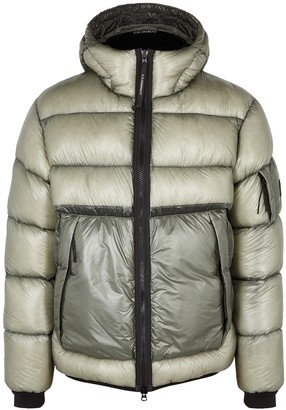 C.P. Company Grey quilted shell jacket