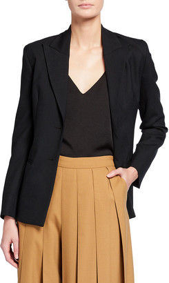 Kirin Open-Back Suiting Lace-Up Blazer