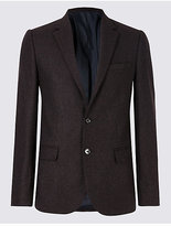 M&S Collection Wool Blend Textured Slim Fit Jacket