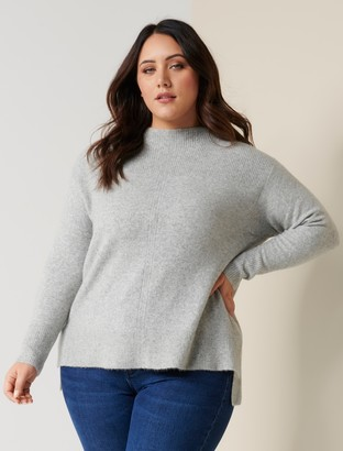 Forever New Zena Curve Grown On Neck Jumper - Ice Grey - 16