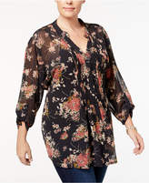 Style&Co. Style & Co Plus Size Floral-Print Blouse, Created for Macy's