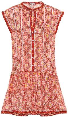 Poupette St Barth Exclusive to Mytheresa Honey printed cotton minidress