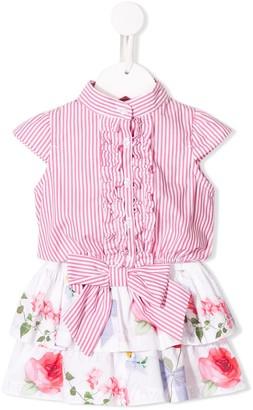 Lapin House Ruffled Hem Shirt Dress