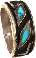 One Kings Lane Vintage Rustic Silver & Turquoise Ring