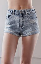 KENDALL + KYLIE Kendall & Kylie Fortune Blue Ripped High Rise Vintage Side Tack Denim Shorts