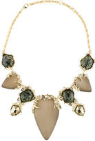 Alexis Bittar Lucite & Crystal Collar Necklace