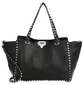 Valentino Women's Garavani Medium Rockstud Leather Tote