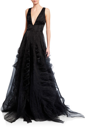 Flor Et. Al Jane Ruffle Organza Ball Gown