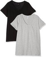 Evans Women's 2 Pack Basic T-Shirt