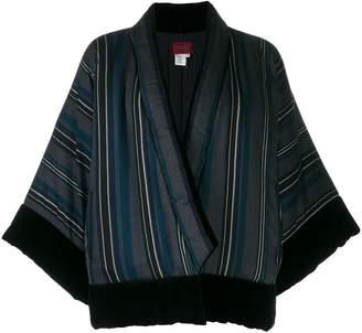 Kenzo Pre-Owned asymmetric striped jacket