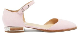Gabriela Hearst Riley Suede Mary-jane Flats - Womens - Pink