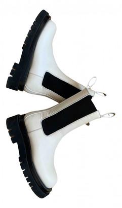 Bottega Veneta Storm Beige Leather Ankle boots