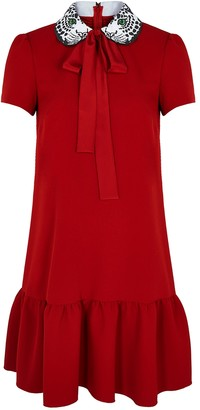 RED Valentino Red embroidered mini dress