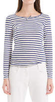 Max Studio Striped Linen Long Sleeved Tee