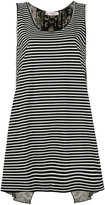 Jucca striped tank top - women - Cotton/Shell - S