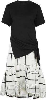 3.1 Phillip Lim Panelled Cotton And Taffeta Dress