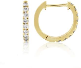 Auree Jewellery Dovehouse Gold Vermeil & Cubic Zirconia Hoop Earrings