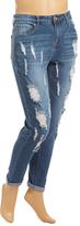 Dollhouse Parker Distress Boyfriend Jeans - Plus