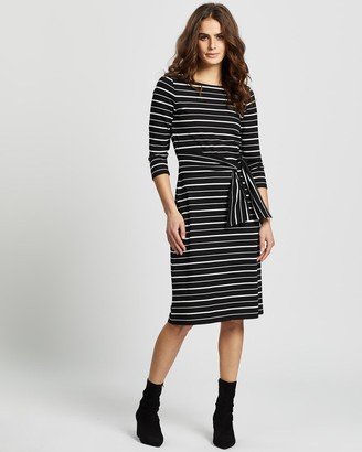 Review Roselie Stripe Ponte Dress