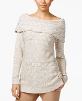 INC International Concepts Petite Boat-Neck Cable-Knit Sweater, Created for Macy's