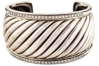 David Yurman Diamond Sculpted Cable Cuff