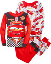 Disney 4-Pc. Cars Cotton Pajama Set, Toddler Boys (2T-5T)
