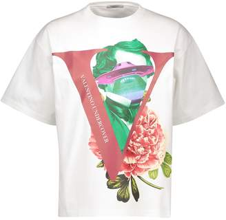 Valentino T-shirt with V Face Rose