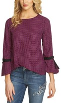CeCe Women's Mayfair Tie Bell Sleeve Blouse