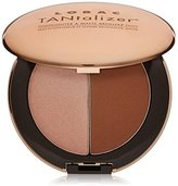 LORAC Travel-Size Tantalizer Highlighter and Matte Bronzer Duo, Bronze, 0.2 oz / 6g