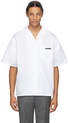 Prada White Bowling Short Sleeve Shirt