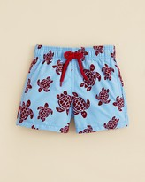 Vilebrequin Boys' Jim Flocked Turtle Swim Trunks - Sizes 2-8