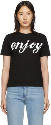 McQ Black Enjoy Band T-Shirt