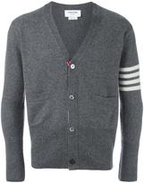 Thom Browne striped detailing V-neck cardigan