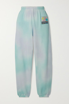Marc Jacobs The THE Appliqued Tie-dyed Cotton-terry Track Pants - Blue