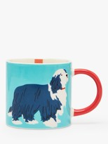 Joules Paws Off Dog Mug, 300ml, Blue/Multi