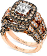 LeVian Le Vian Chocolatier® Diamond Bridal Set (2-9/10 ct. t.w.) in 14k Rose Gold