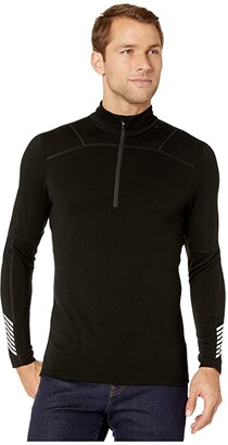Helly Hansen Lifa Merino 1/2 Zip (Black) Men's Clothing