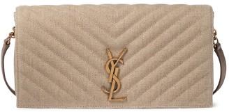 Saint Laurent Kate 99 linen shoulder bag